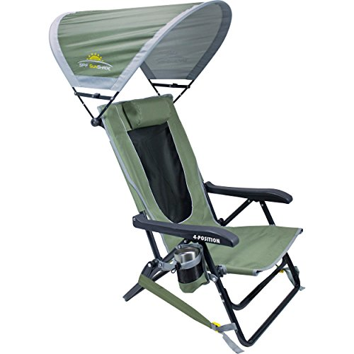 GCI Outdoor Reclining Portable Backpack Chair with Sunshade