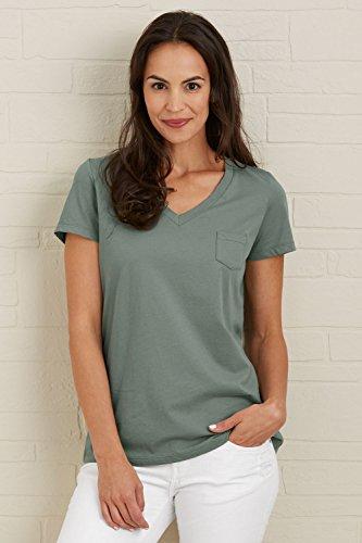 Fair Indigo Fair Trade Organic Relaxed Pocket V-neck Tee