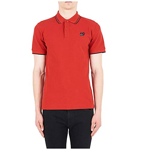 McQ Alexander McQueen Men Polo t-Shirt Swallow Rosso S