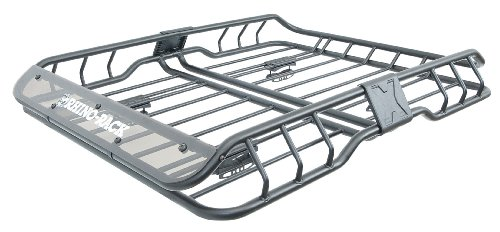 Rhino Rack Roof Mount Vehicle Cargo Basket, Luggage Carrying Accessory - Large ()