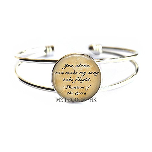 Botewo0lbei you alone can make my song Bangle,Opera Bangle,Gift for Women,wedding jewelry glass jewelry-MT060 (W1)]()