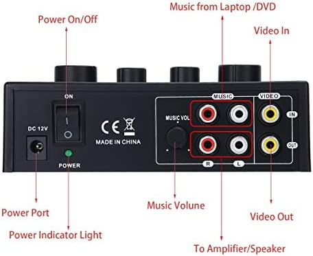 Tivollyff カラオケサウンドミキサーオーディオシステムポータブルミニデジタルオーディオサウンドカラオケマシンエコーミキサーシステム