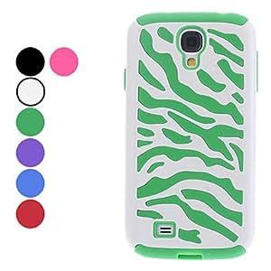 CECT STOCK Cebra dura del caso del patrón de la raya por Samsung Galaxy S4 i9500 (colores surtidos) , Púrpula