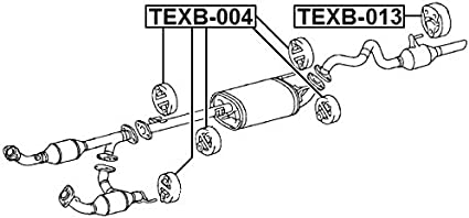 1756574280 Genuine Toyota SUPPORT EXHAUST PIPE NO.1 17565-74280