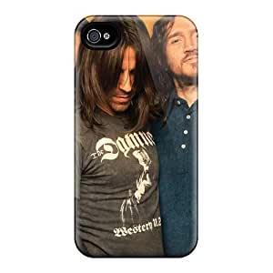 IanJoeyPatricia Iphone 4/4s Shock Absorption Cell-phone Hard Cover Unique Design Colorful Red Hot Chili Peppers Pictures [FKv12332KMth]