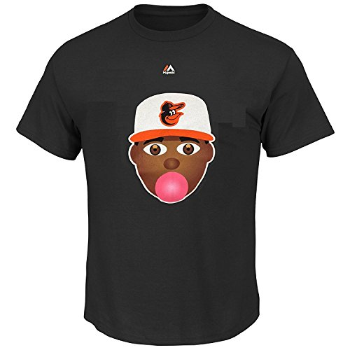 Adam Jones Baltimore Orioles #10 Youth Emoji Player T-shirt (Youth Medium 10/12) (Jones Hat)