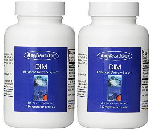 Allergy Research Group DIM (Diindolymethane) Enhanced Delivery System 120 Caps - Pack of - Delivery Dim System Enhanced