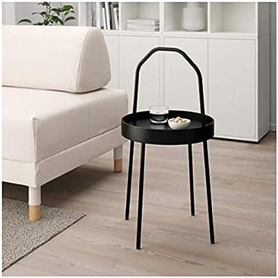 Ikea Burvik 703.403.84 - Mesa Auxiliar (38 cm), Color Negro ...