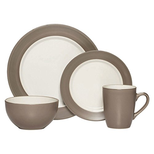 Pfaltzgraff Harmony 16 Piece Dinnerware Set (Service For 4), Taupe