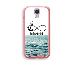 Cool Painting Shawnex I Refuse To Sink Waves ThinShell Protective Pink Plastic Samsung Galaxy S4 Case - Galaxy i9500 Case Snap On Case