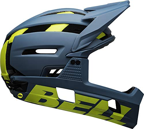 Bell Super Air R MIPS Adult MTB Bike Helmet (Matte/Gloss Blue/Hi-Viz (2020), Medium (55-59 cm))