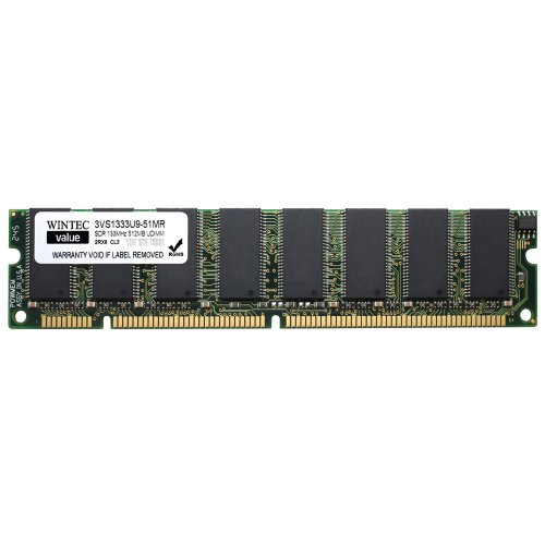 Wintec Value MHzCL3 512MB UDIMM Retail 2Rx8 512 Not a Kit (Single) PC 133 168-Pin SDRAM 3VS1333U9-51MR (Memory 168 Pin Dimm Pc133)