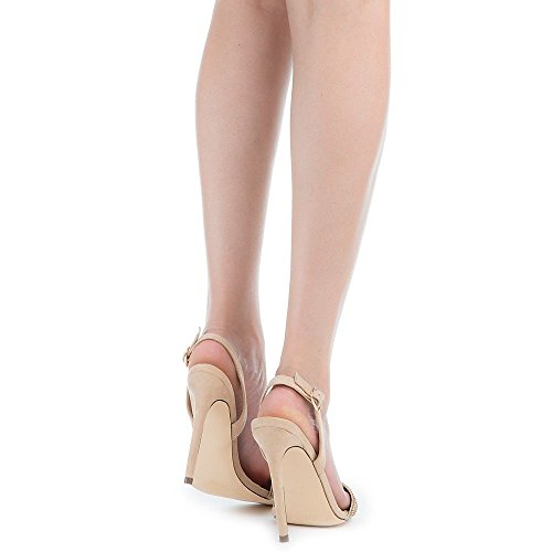 Liliana Stiletto Dazz Heel Women's Shoe Sandal Nude Open Toe High UIxwFRU