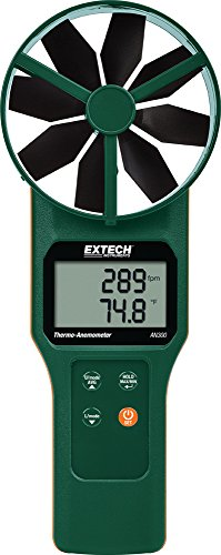 Extech AN300 Vane CFM/CMM Thermo-Anemometer ()