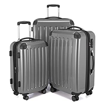 Image of Luggage HAUPTSTADTKOFFER Luggage Sets Alex UP Hard Shell Luggage with Spinner Wheels 3 Piece Suitcase TSA Silver