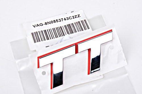 Audi TT Mk1 1998-2006 Rear Emblem Logo Badge Lettering Chrome Red GENUINE