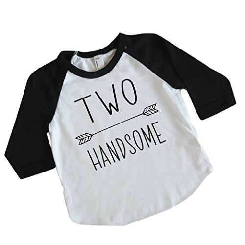Second Birthday Boy Shirt Two Handsome Boys 2nd Outfit 2T