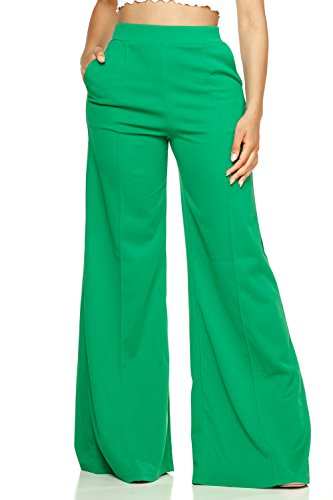 (Cemi Ceri Women's J2 Love Flowing Palazzo Pants, Medium, Shamrock)