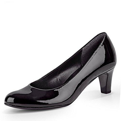 Escarpins tec Cuir Robe Hi Gabor Patent Black Nesta Womens F8ITxB