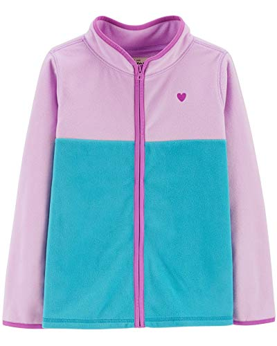OshKosh B'Gosh Girls' Fleece Cozie, Colorblock, Purple/Turquiose, 7 Kids