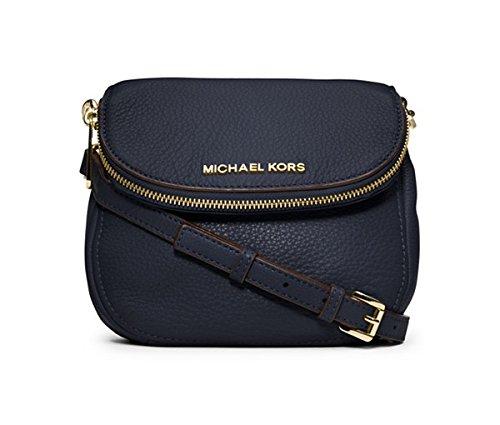 7a1a5dab68d1 MICHAEL Michael Kors Bedford Flap Crossbody-Navy Gold: Amazon.ca: Shoes &  Handbags