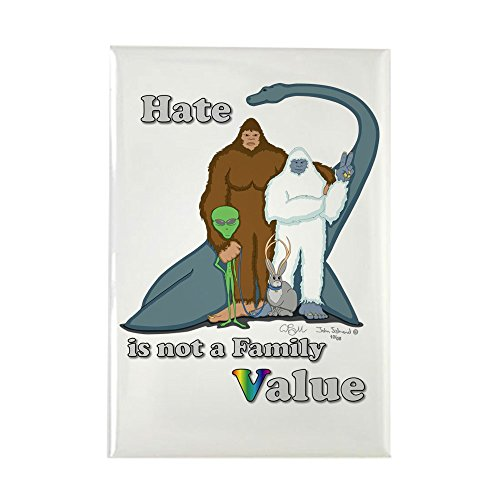 CafePress Hate is not a Family Value Rectangle Magnet Rectangle Magnet, 2