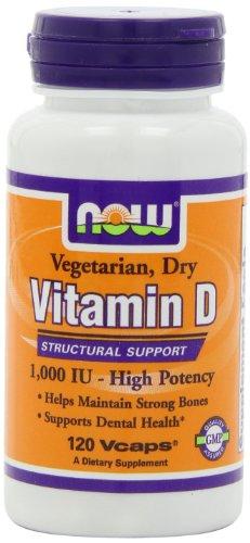 NOW Foods Vit D-2 1000Iu высокой потенции, 120 Vcaps