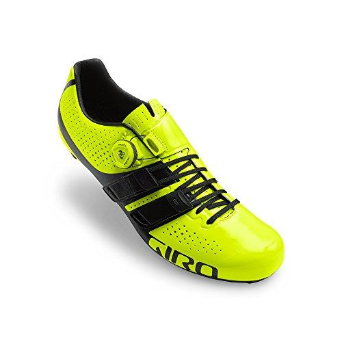Giro Factor Techlace Highlight Geel Zwart Racefiets Schoenen Maat 40