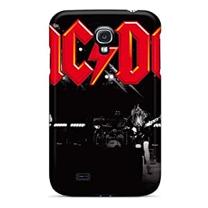 AlissaDubois Samsung Galaxy S4 Perfect Hard Cell-phone Cases Allow Personal Design HD Ac Dc Band Image [onA2866TNXW]