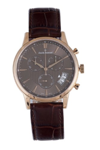 Claude Bernard Men's 01002 37R BRIR Classic Rose Gold PVD Brown Dial Chrono Tachymeter Watch