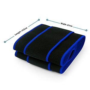 Becko Adjustable Waist Trimmer Belt / Weight Loss Ab Wrap / Sweat Workout Enhancer / Back & Lumbar Support / Tummy Belt for Man & Woman (Blue)