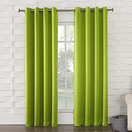 Zero–Carretilla Sol eficiente de la energía Ojal Cortina, Verde Lima (Lime Green), 1
