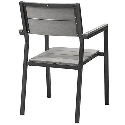 - Modway EEI-1506-BRN-GRY Maine Dining Outdoor Patio Armchair in Brown Gray, One