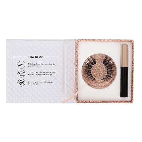 LAMIX Magnetic Eyeliner with Magnetic Eyelashes Kit No Glue False Lashes