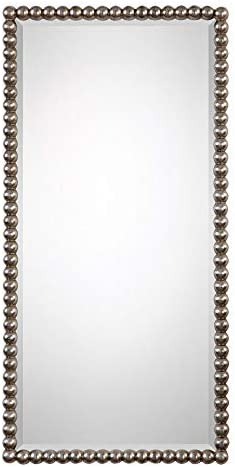 Uttermost Serna Antiqued Silver 16″ x 32″ Wall Mirror - the best decorative wall mirror for the money