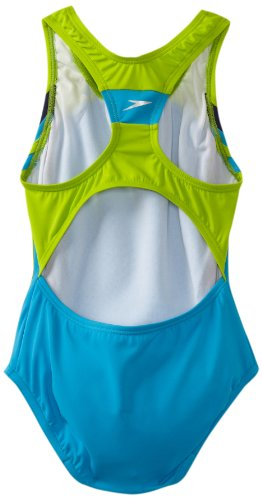 Speedo Girls 7-16 Solid Infinity Splice 1 Piece Swimsuit