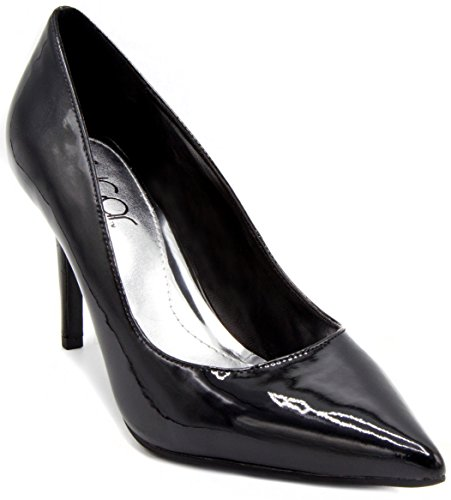 Patent Women's Dress Pointed Pump Sandal Stiletto Shoe Black Toe Heel Sugar Fiona Fqw7ApZ