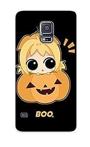 New Arrival Case Specially Design For Galaxy S5 (cute Girl Hiding In A Pumpkin)