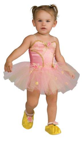 [Toddler Pink Rose Ballerina Dress Up Costume] (Ballerina Costumes For Toddler)