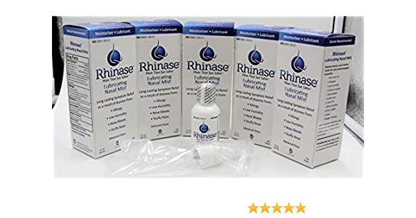 Amazon.com: Rhinase Nasal Mist1 oz (5 Pack) for Dry Nose, Allergy and to Prevent Nosebleeds Caused by Nasal Dryness: Health & Personal Care