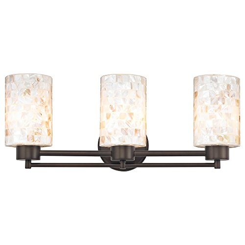 Bathroom Light with Mosaic Glass Glass in Bronze Finish by Design Classics
