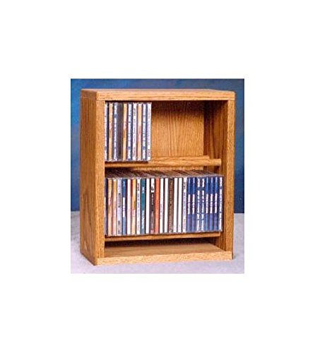 (12.25 in. Dowel CD Storage Rack (Honey Oak))