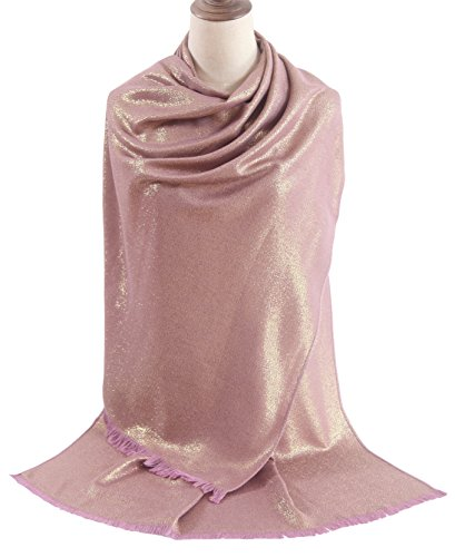 Dress Silk Draped - MissShorthair Women's Metallic Soft Pashmina Shawl Wrap Scarf in Solid Colors (27