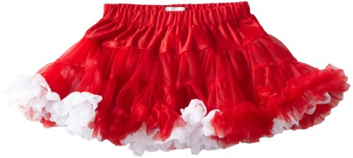 Mud Pie Baby Girls' Christmas Pettiskirt, Multi Colored, Small 0 12 Months (Ruffled White Pettiskirt)