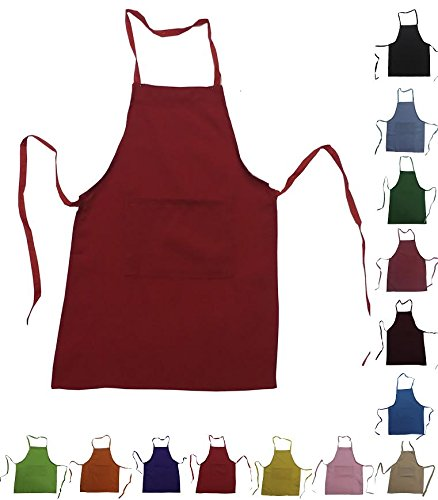 Chefskin Lot Apron LOT Chefskin Wholesale Discount (LOT OF 3, RED SMALL (2-8))