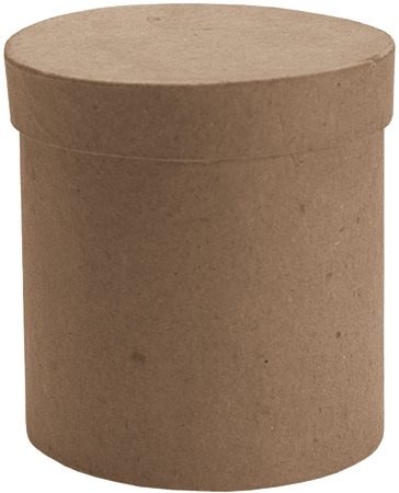 DCC Paper Mache Tall Round Box, 3 by 3 by (Dcc Paper Mache)