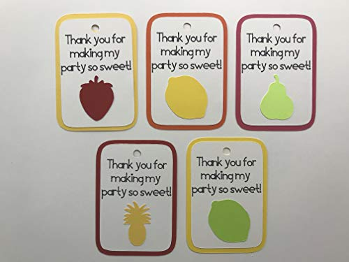 (Thanks for Making My Party So Sweet Favor Tags - Fruit Party Favor Tags - Twotti Frutti Favor Tags - Tutti Frutti Favor Tags - Fruit Party - 10 Tags)