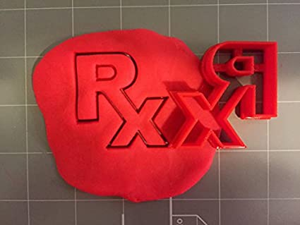 Amazon com: RX Logo Cookie Cutter (2 Inch): Kitchen & Dining