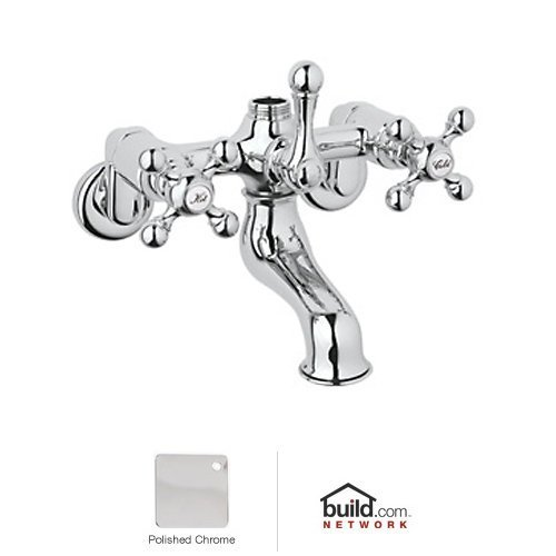 Rohl AC13X-APC Exposed Tub Filler with Metal Cross Handles from Cisal Bath ()