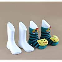 WellieSTR 4PCS (White color) Hard Plastic Children Kids Baby Feet Mannequin Foot Model Tools for Shoes Sock Display Socks Tool Supply